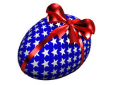 easter egg with satin bow poster