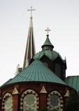 ornate church top poster