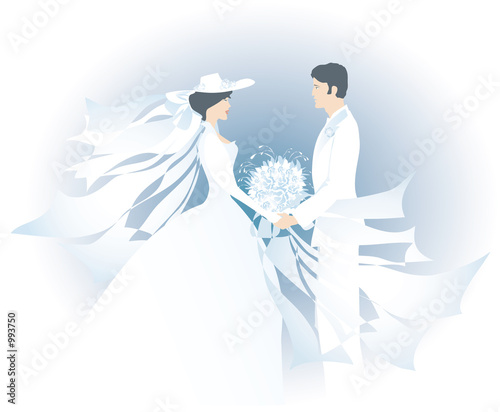 white bride and bridegroom1