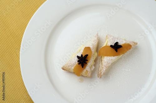 lemon dessert on white plate