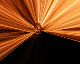 orange light fantasy.curtain poster