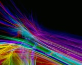 rainbow abstract feathers poster