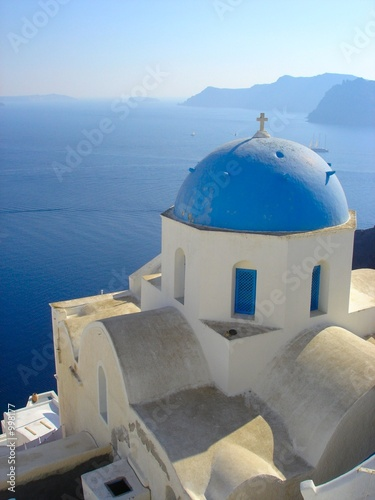 canvas print picture santorini 2