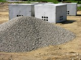 crushed stone piles poster