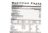 nutrition facts label . poster