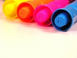 markers of various colors poster