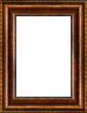antique rustic dark wooden picture frame poster