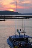 sunset over bar at bar harbor poster