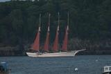 schooner at bar harbor poster