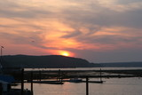 sunset at bar harbor poster