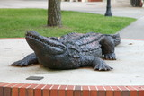 alligator sculpture poster