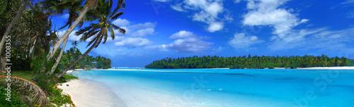 Leinwanddruck Bild panoramic lagoon ii