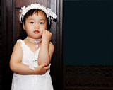 cute asian toddler poster