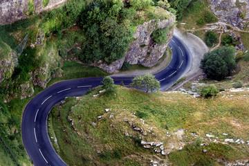 road curves
