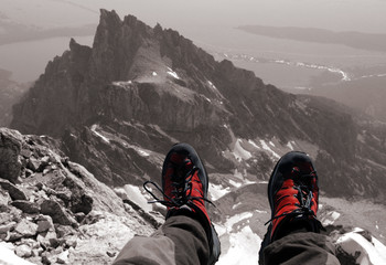 shoes on the summit