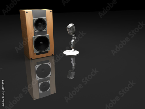 retro microphone and speaker