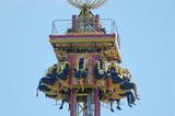 carnival riders in air poster