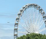ferris wheel & airplane poster