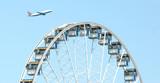 airplane & ferris wheel poster