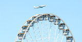 ferris wheel & airplane poster