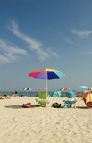 cape may beach umbrella poster