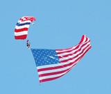 sky diver & american flag poster