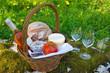 canvas print picture - panier picnic