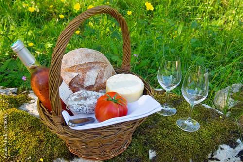 canvas print picture panier picnic