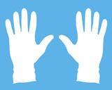 medical gloves poster