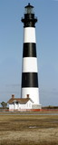 panoramic picture of bodie island lighthouse poster