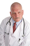 mature doctor - serious poster