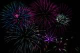 bright blue fireworks poster