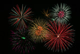 bright colorful fireworks poster