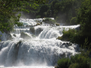 waterfall national park of krka