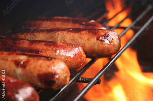 brats on the grill - 1023325