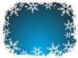 snowflake frame poster