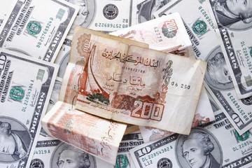 dollars and dinar