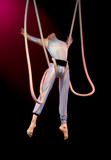 acrobat on stage poster
