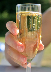une petite coupe de champagne
