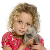 Fototapety l'enfant et le lapin