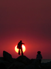 toward sun