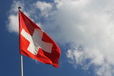 national flag of switzerland. poster