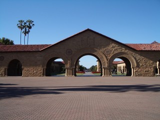 stanford campus' main entrance