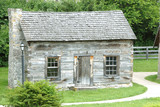 historic log cabin 1770 poster