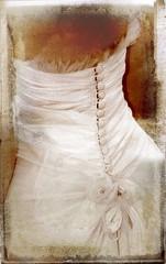vintage image of bride on textured background