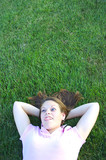 laying in the grass poster