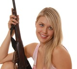 rifle lady five poster