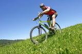 biken im grass