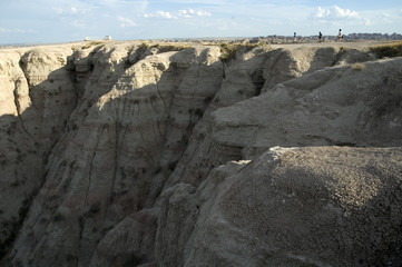 the buttes at badlands national park, south dakota