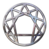 enneagram 3d in chromed metal